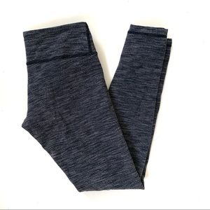 Lululemon Wunder Under Pants Size 6 Gray Textured